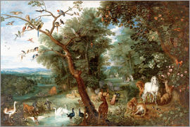 Jan Brueghel d.Ä. - The Garden of Eden with Adam and Eve