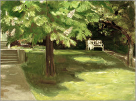 Max Liebermann - Garden bench under the chestnut
