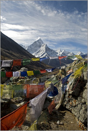David Noyes - Prayer flags and the Ama Dablam