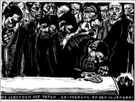 Käthe Kollwitz - Commemorative sheet for Karl Liebknecht