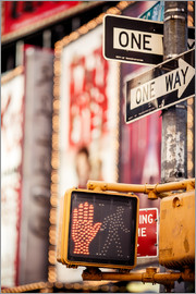 Don't walk - New York traffic sign