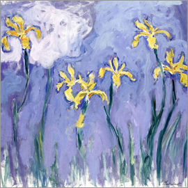 Claude Monet - Yellow Iris with Pink Cloud