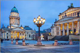 Gendarmenmarkt square with street lamp