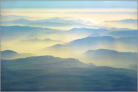 HADYPHOTO GEO ART - GEO ART   MOUNTAINS IN EARLY MORNING FOG WITH BACKLIGHT   NORTH EASTERN AFGHANISTAN 8