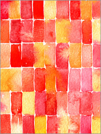 Nic Squirrell - August Geometric Abstract Watercolor