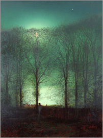 John Atkinson Grimshaw - Figure in the Moonlight