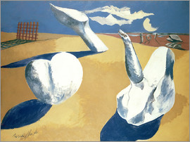 Paul Nash - Stranded figures into the sunset