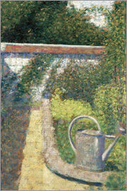 Georges Seurat - The Watering Can-Garden at Le Raincy