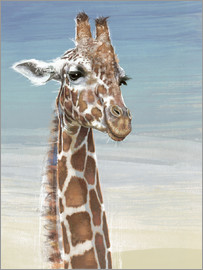 Ashley Verkamp - Giraffe Against A Blue Sky