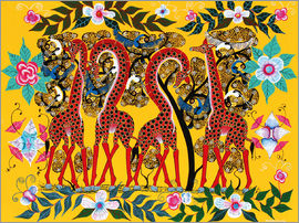Chiwaya - Giraffes and flowers
