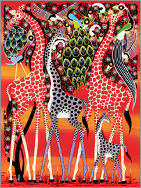 Maulana - Giraffe family at dusk