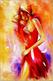 Marita Zacharias - Girl in red dress - modern erotic image