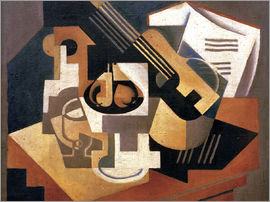 Juan Gris - Guitar and fruit bowl