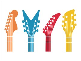 Nory Glory Prints - Guitar headstocks