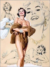 Al Buell - Glamour Pin Up study