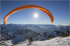 Thomas Klinder - paragliding start