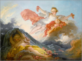 Jean-Honoré Fragonard - The goddess aurora triumphing over night