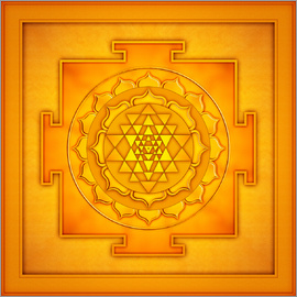 Dirk Czarnota - Golden Sri Yantra - Artwork II