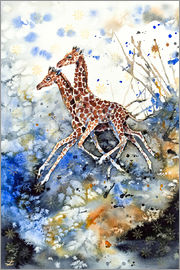 Zaira Dzhaubaeva - Golden Childhood. Playing Giraffe babies