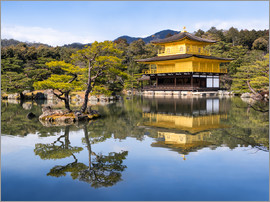 Jan Christopher Becke - Golden Kinkakuji Temple and garden in the summer in Kyoto Japan