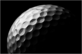 Golf ball in the macro