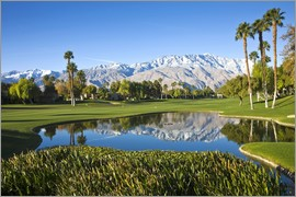 Walter Bibikow - Golf course and mountains, Palm Springs