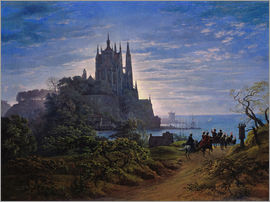 Karl Friedrich Schinkel - Gothic church on a cliff by the sea