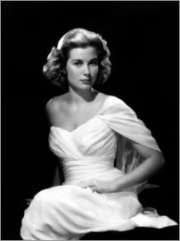 Grace Kelly en robe blanche