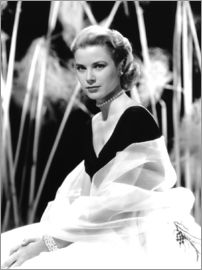 Grace Kelly with a tulle shawl