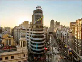 Matteo Colombo - Gran via at sunset, Madrid, Spain