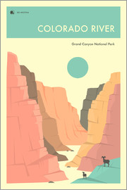 Jazzberry Blue - GRAND CANYON NATIONAL PARK POSTER