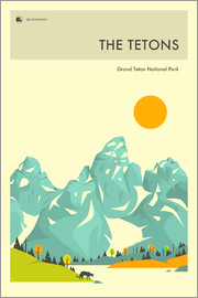 Jazzberry Blue - GRAND TETON NATIONAL PARK POSTER