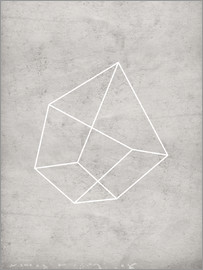 Nouveau Prints - gray polygon 6