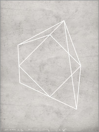 Nouveau Prints - gray polygon 7