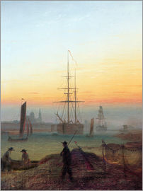 Caspar David Friedrich - Harbour of Greifswald