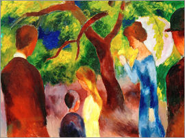 August Macke - Great Promenade: People in the Garden