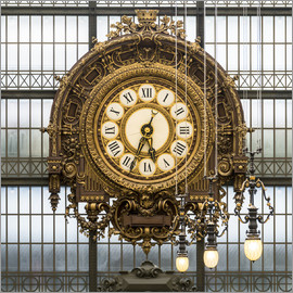 Jan Christopher Becke - Big clock at the Musee d'Orsay in Paris, France