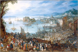 Jan Brueghel d.Ä. - Big Fish Market