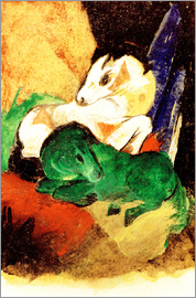 Franz Marc - Green and White Horse