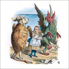 John Tenniel - Gryphon and the Mock Turtle Alice dance