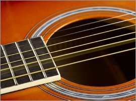 Guitar strings at rest and vibrating