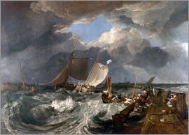 Joseph Mallord William Turner - Harbor pier of Calais pier