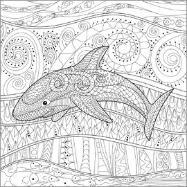Shark with ornaments