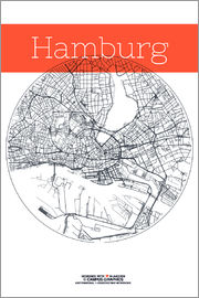 campus graphics - Hamburg map city
