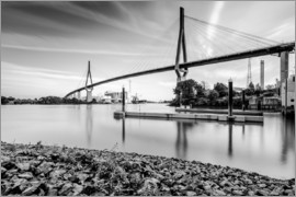 Kristian Goretzki - Hamburg | Köhlbrand bridge (black & white)