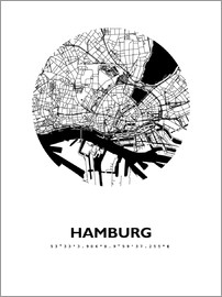 44spaces - HANBURG CITY MAP HFR b/w