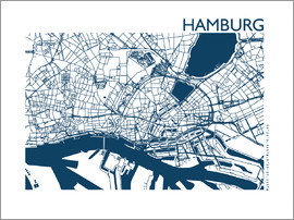 44spaces - HAMURG MAP indigo