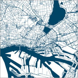 44spaces - HAMBURG CITY MAP Q2 indigo