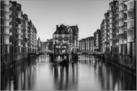 Michael Valjak - Hamburg Speicherstadt black-and-white