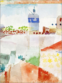 Paul Klee - Hammamet with the mosque, 1914